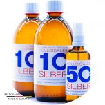 Kolloidales Silber 1100ml - 2*500ml 10ppm - Spray 100ml 50ppm