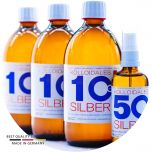 Kolloidales Silber 1600ml - 3*500ml 10ppm - Spray 100ml 50ppm