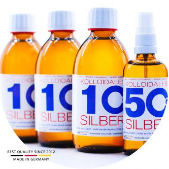 Kolloidales Silber 850ml - 3*250ml 10ppm - Spray 100ml 50ppm